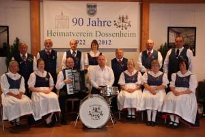 Die Trachtengruppe im Jubiläumsjahr 2012