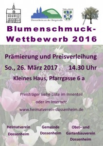 Plakat Blumenschmuck 2016